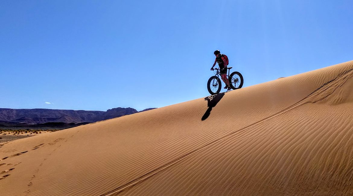 Marruecos en bicicleta. Dunas BIKING THROUGH SPAIN & ESPAI BICI