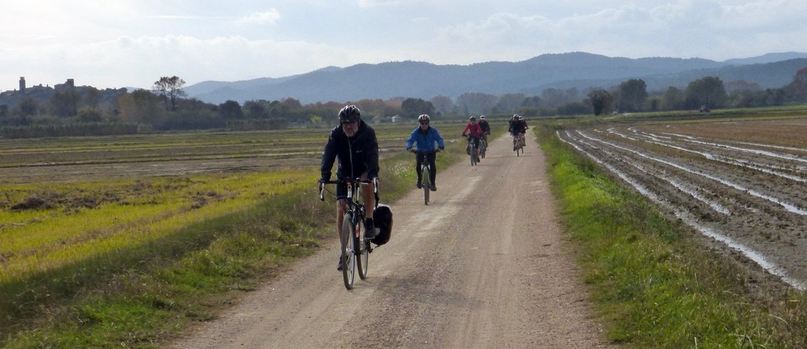 Ruta ciclista integral por el Emporda campos de arroz| BIKING THROUGH SPAIN