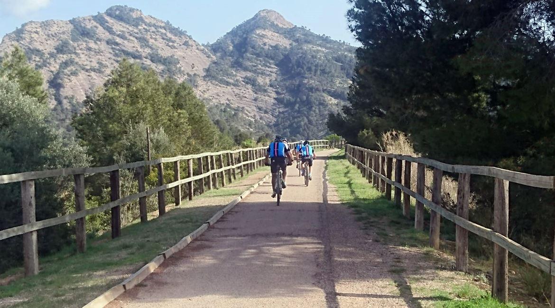 Vía Verde Val de Zafán en bicicleta. Bot. BICIS EN RUTA