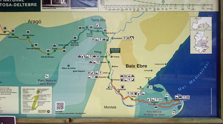 Vía Verde Val de Zafán en bicicleta. Mapa. BICIS EN RUTA